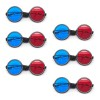 Red Blue Reversible Goggles - Elastic