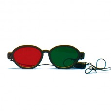 Red Green Glasses - Modern, Elastic